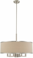 Livex 62614-91 Park Ridge Brushed Nickel 24  Drum Drop Lighting