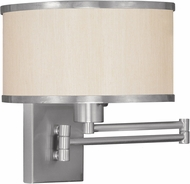 Livex 6279-91 Park Ridge Brushed Nickel Wall Swing Arm Lamp