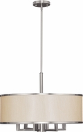 Livex 6296-91 Park Ridge Brushed Nickel 24  Drum Hanging Lamp