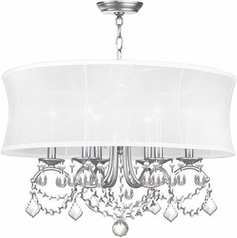 Livex 6306-91 Newcastle Brushed Nickel Drum Pendant Light Fixture