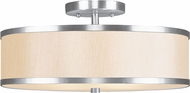 Livex 6345-91 Park Ridge Brushed Nickel Flush Lighting