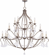 Livex 6439-71 Chesterfield Hand Applied Venetian Golden Bronze Chandelier Light