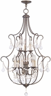 Livex 6449-71 Chesterfield Hand Applied Venetian Golden Bronze Lighting Chandelier