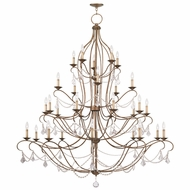 Livex 6459-48 Chesterfield Antique Gold Leaf Chandelier Lamp