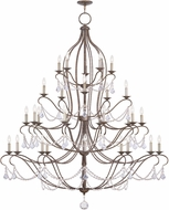 Livex 6459-71 Chesterfield Hand Applied Venetian Golden Bronze Chandelier Light