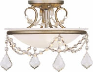Livex 6523-73 Chesterfield/Pennington Hand Painted Antique Silver Leaf Home Ceiling Lighting