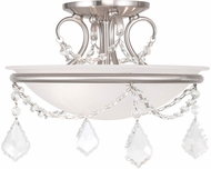 Livex 6523-91 Chesterfield/Pennington Brushed Nickel Overhead Light Fixture