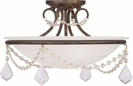 Livex 6524-71 Chesterfield/Pennington Hand Applied Venetian Golden Bronze Ceiling Light