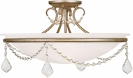 Livex 6525-73 Chesterfield/Pennington Hand Painted Antique Silver Leaf Flush Mount Light Fixture