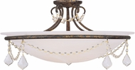 Livex 6526-71 Chesterfield/Pennington Hand Applied Venetian Golden Bronze Flush Mount Ceiling Light Fixture