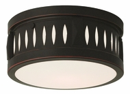 Livex 65506-67 Vista Olde Bronze ADA 10  Flush Lighting