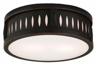 Livex 65507-67 Vista Olde Bronze ADA 12  Overhead Lighting