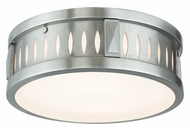 Livex 65507-91 Vista Brushed Nickel ADA 12  Flush Mount Light Fixture