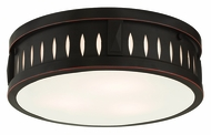 Livex 65508-67 Vista Olde Bronze ADA 14  Flush Mount Lighting Fixture