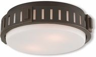 Livex 65511-67 Portland Olde Bronze 11  Flush Mount Ceiling Light Fixture