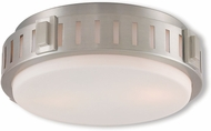 Livex 65511-91 Portland Brushed Nickel 11  Home Ceiling Lighting