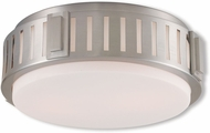 Livex 65512-91 Portland Brushed Nickel 13  Overhead Lighting Fixture