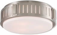 Livex 65513-91 Portland Brushed Nickel 15  Ceiling Light