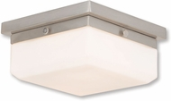 Livex 65536-91 Allure Brushed Nickel ADA Ceiling Lighting Fixture