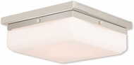 Livex 65537-35 Allure Polished Nickel ADA Flush Lighting
