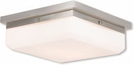 Livex 65537-91 Allure Brushed Nickel ADA Flush Mount Lighting