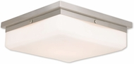 Livex 65538-91 Allure Brushed Nickel ADA Flush Mount Lighting Fixture