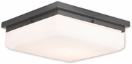 Livex 65538-92 Allure English Bronze ADA Flush Ceiling Light Fixture