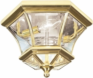 Livex 7052-02 Monterey/Georgetown Polished Brass Exterior Home Ceiling Lighting