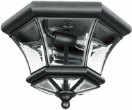 Livex 7052-04 Monterey/Georgetown Black Outdoor Overhead Light Fixture