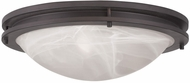 Livex 7059-07 Ariel Bronze 17  Flush Lighting