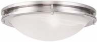 Livex 7059-91 Ariel Brushed Nickel 17  Flush Mount Lighting