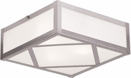 Livex 7133-91 Viper Brushed Nickel 11  Overhead Lighting