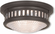Livex 73051-07 Berwick Bronze 11  Flush Ceiling Light Fixture
