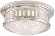 Livex 73051-35 Berwick Polished Nickel 11  Flush Mount Ceiling Light Fixture