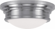 Livex 7343-91 Astor Brushed Nickel 15.5  Flush Mount Lighting