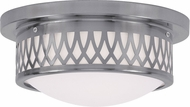 Livex 7351-91 Westfield Brushed Nickel 11  Flush Mount Light Fixture