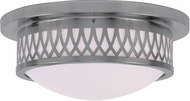Livex 7352-91 Westfield Brushed Nickel 13  Flush Ceiling Light Fixture