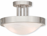 Livex 73955-91 New Brighton Brushed Nickel 12.25  Ceiling Light Fixture