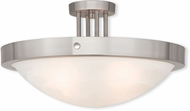Livex 73957-91 New Brighton Brushed Nickel 20.5  Flush Mount Lighting