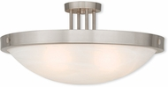 Livex 73958-91 New Brighton Brushed Nickel 24  Flush Mount Light Fixture