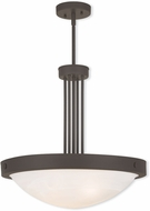 Livex 73964-07 New Brighton Bronze 20.5  Hanging Pendant Lighting