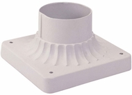 Livex 7507-03 Outdoor White Post Mount