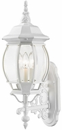 Livex 7524-13 Frontenac Traditional Textured White Exterior 22 Wall Light Sconce