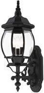 Livex 7524-14 Frontenac Traditional Textured Black Outdoor 22 Wall Sconce Light