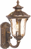 Livex 7650-50 Oxford Traditional Moroccan Gold Outdoor 7.25 Wall Mounted Lamp