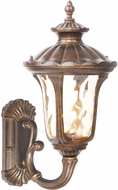 Livex 7652-50 Oxford Traditional Moroccan Gold Outdoor 9.5 Wall Lighting Fixture