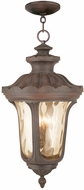 Livex 76703-58 Oxford Traditional Imperial Bronze Pendant Hanging Light