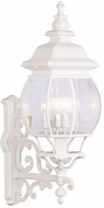 Livex 7701-03 Frontenac Traditional White Wall Sconce Lighting