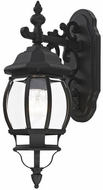 Livex 7706-14 Frontenac Traditional Textured Black Exterior 19 Wall Sconce Lighting