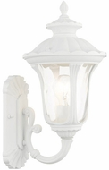 Livex 7850-13 Oxford Textured White Outdoor 16  Lighting Wall Sconce